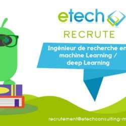 Ingénieur machine learning et deep learning - eTech