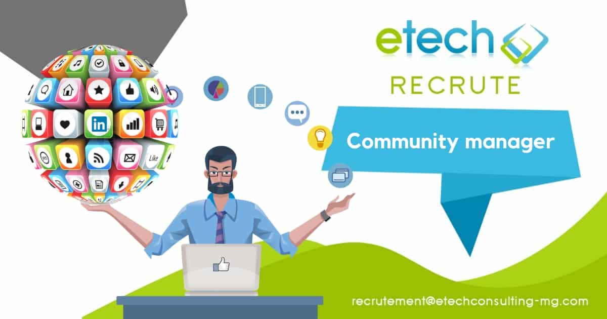 Recrutement community manager - eTech