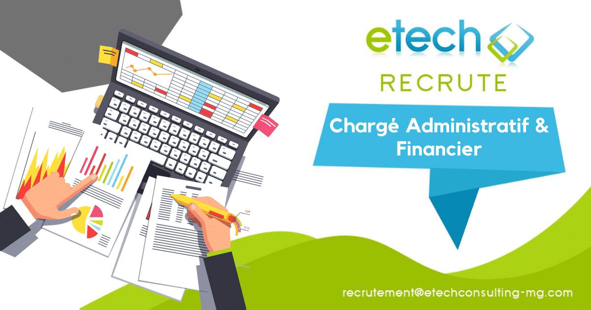 Recrutement chargé administratif et financier - eTech