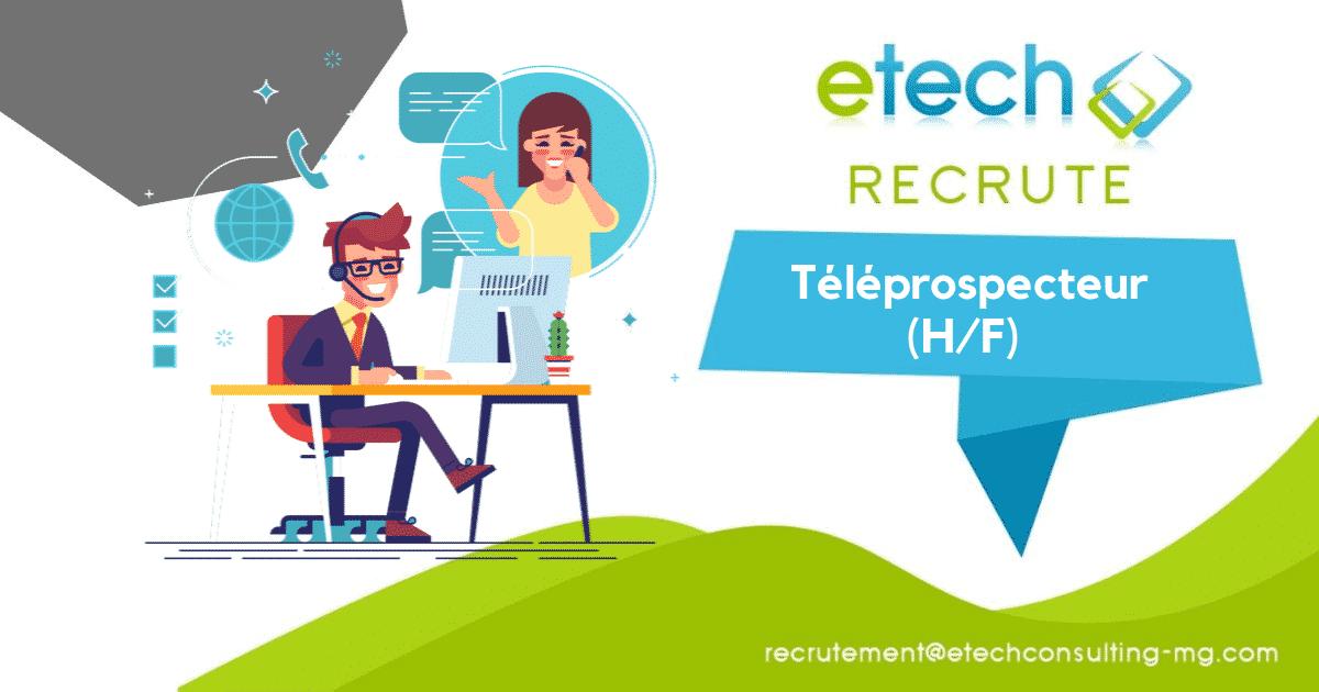 recrutement téléprospecteur h/f - eTech