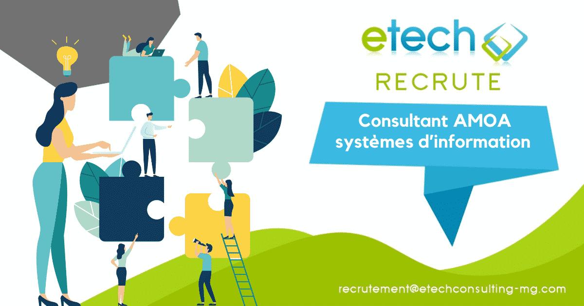 recrutement consultant AMOA systèmes d'information - eTech