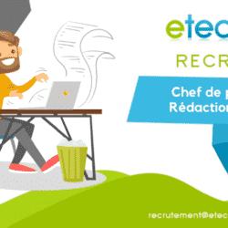 Recrutement CP rédaction - eTech